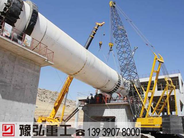 国外陶粒砂生产线施工现场